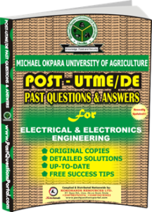MOUAU Post UTME Past Question for Electrical and Electronics Engineering