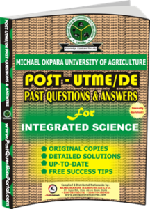 MOUAU Post UTME Past Question for INTEGRATED SCIENCE