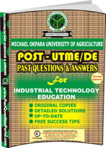 MOUAU Post UTME Past Question for Industrial Technology Education