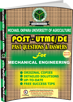 MOUAU Post UTME Past Question for MECHANICAL ENGINEERING