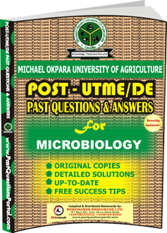 MOUAU Post UTME Past Question for MICROBIOLOGY