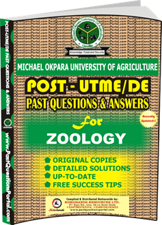 MOUAU Post UTME Past Question for ZOOLOGY
