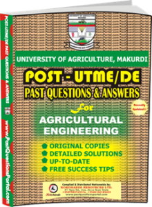 UAM Post UTME Past Question for Agricultural Engineering