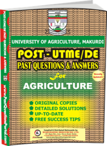 UAM Post UTME Past Question for Agriculture