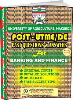 UAM Post UTME Past Question for Banking and Finance