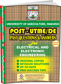 UAM Post UTME Past Question for Electrical and Electronic Engineering