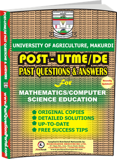 UAM Post UTME Past Question for Mathematics Computer Science Education