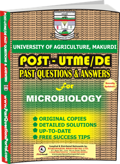 UAM Post UTME Past Question for Microbiology