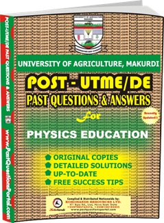 UAM Post UTME Past Question for PHYSICS EDUCATION