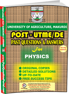 UAM Post UTME Past Question for Physics