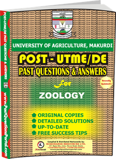 UAM Post UTME Past Question for ZOOLOGY