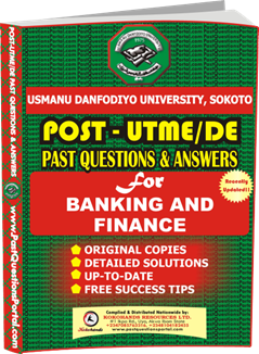 UDUS Post UTME Past Question for BANKING AND FINANCE