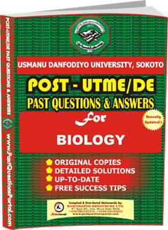 UDUS Post UTME Past Question for BIOLOGY