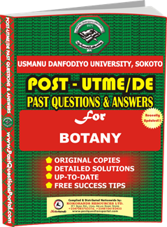 UDUS Post UTME Past Question for BOTANY