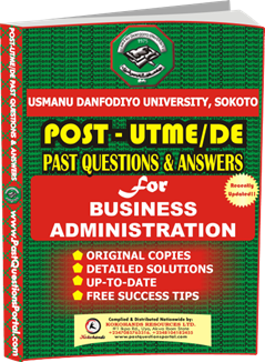 UDUS Post UTME Past Question for BUSINESS ADMINISTRATION