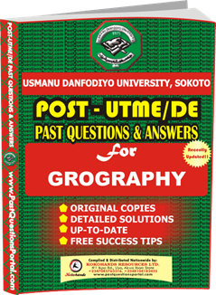 UDUS Post UTME Past Question for GEOGRAPHY
