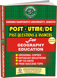 UDUS Post UTME Past Question for Geography Education