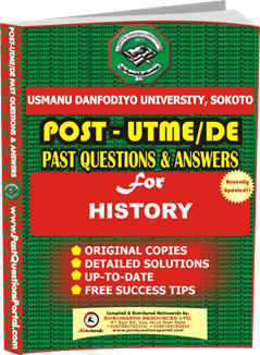 UDUS Post UTME Past Question for HISTORY