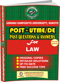 UDUS Post UTME Past Question for LAW