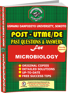UDUS Post UTME Past Question for MICROBIOLOGY