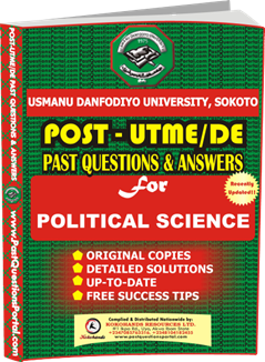 UDUS Post UTME Past Question for POLITICAL SCIENCE
