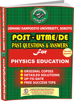 UDAAUS Post UTME Past Question for Physics Education