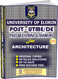 UNILORIN Post UTME Past Question for Architecture