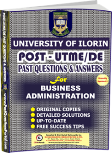 UNILORIN Post UTME Past Question for BUSINESS ADMINISTRATION