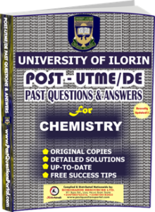 UNILORIN Post UTME Past Question for CHEMISTRY