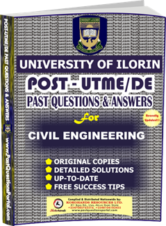 UNILORIN Post UTME Past Question for CIVIL ENGINEERING