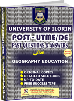 UNILORIN Post UTME Past Question for Education Geography
