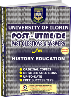 UNILORIN Post UTME Past Question for Education History