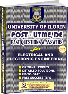 UNILORIN Post UTME Past Question for Electrical and Electronics Engineering