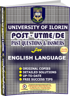 UNILORIN Post UTME Past Question for English Language
