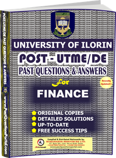 UNILORIN Post UTME Past Question for Finance