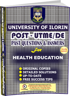UNILORIN Post UTME Past Question for Health Education