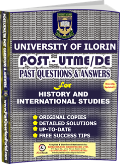 UNILORIN Post UTME Past Question for History and International Studies