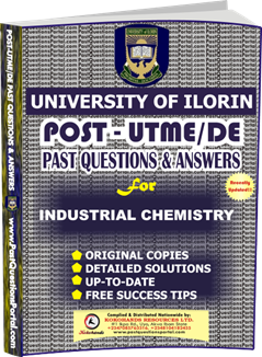UNILORIN Post UTME Past Question for Industrial Chemistry
