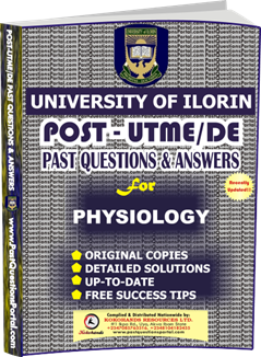 UNILORIN Post UTME Past Question for Physiology