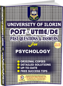 UNILORIN Post UTME Past Question for Psychology