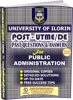 UNILORIN Post UTME Past Question for Public Administration