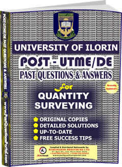 UNILORIN Post UTME Past Question for Quantity Surveying