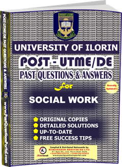 UNILORIN Post UTME Past Question for Social Works