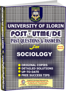 UNILORIN Post UTME Past Question for Sociology