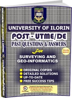 UNILORIN Post UTME Past Question for Surveying and Geo-Informatics
