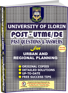 UNILORIN Post UTME Past Question for Urban and Regional Planning