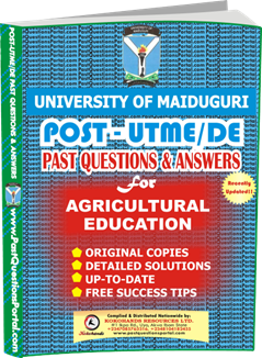 UNIMAID Post UTME Past Question for Agricultural Education