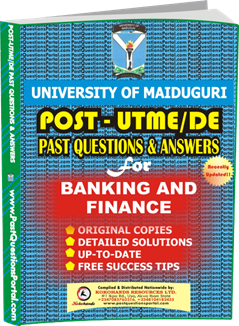 UNIMAID Post UTME Past Question for BANKING AND FINANCE