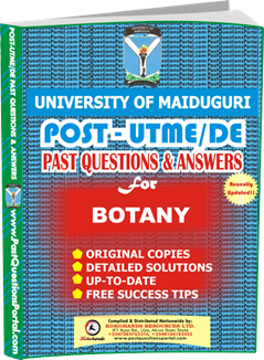 UNIMAID Post UTME Past Question for Botany