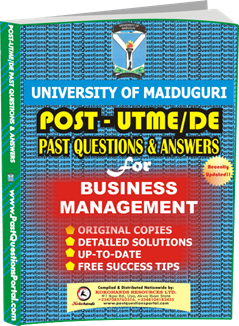 UNIMAID Post UTME Past Question for Business Management